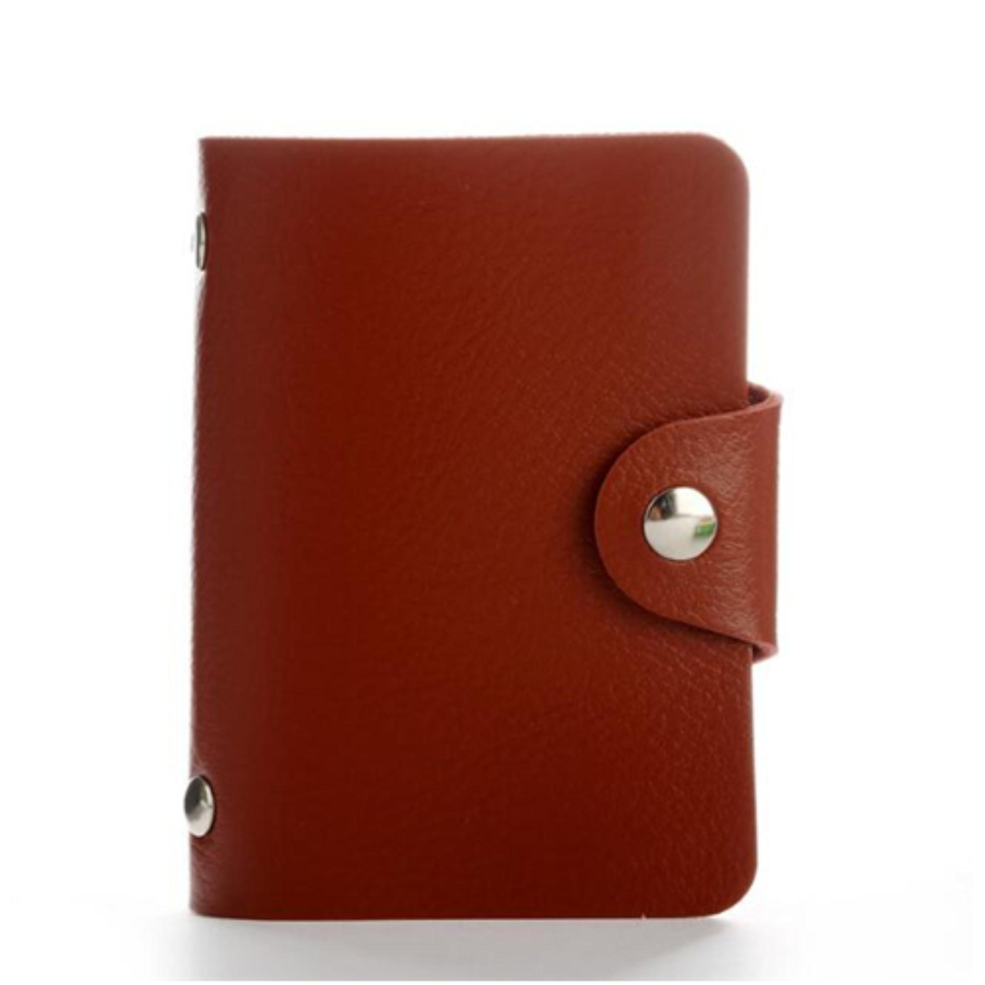 ZeeBee Dompet Kartu 24 Slot - PU Leather Card Holder - Tempat Kartu Nama / Kartu Kredit ATM