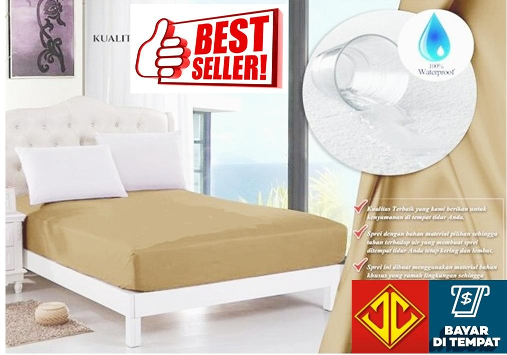 Sprei Jaxine Waterproof Anti Air (sprei only) - Mocca (krem)