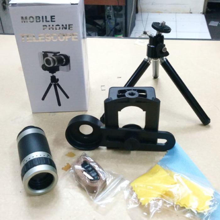 PALING DICARI Lensa Tele Zoom 8x For HP Smartphone Telezoom Paket Mini Tripod Murah PROMO TERLARIS