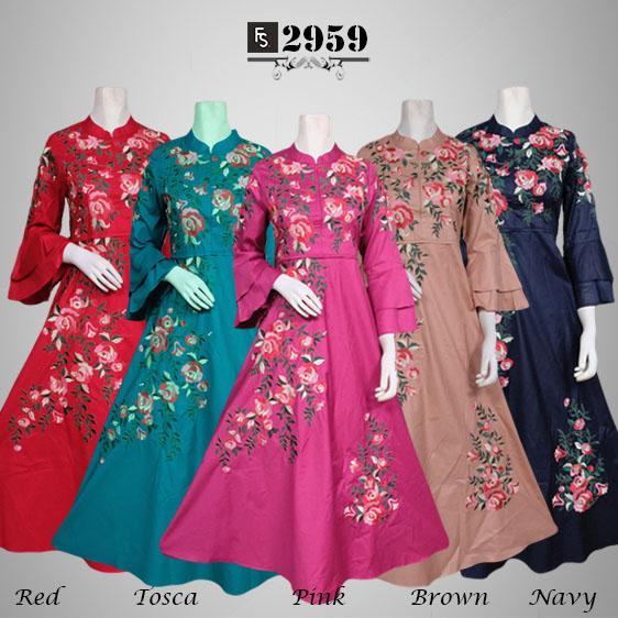 Toko Kirana Surabaya Gamis maxi dress baju gaun pesta busana muslim Calista 959