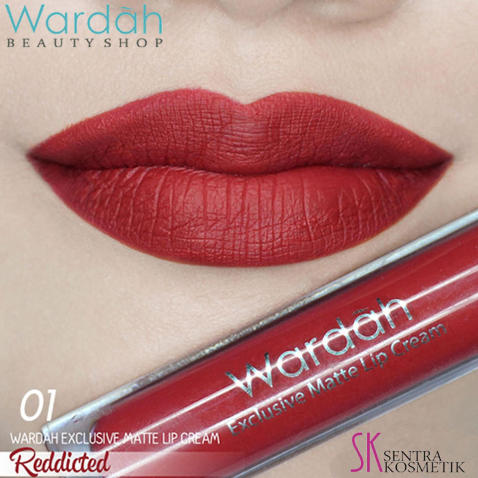 Wardah Exclusive MATTE LIP CREAM No 01 - RED DICTED