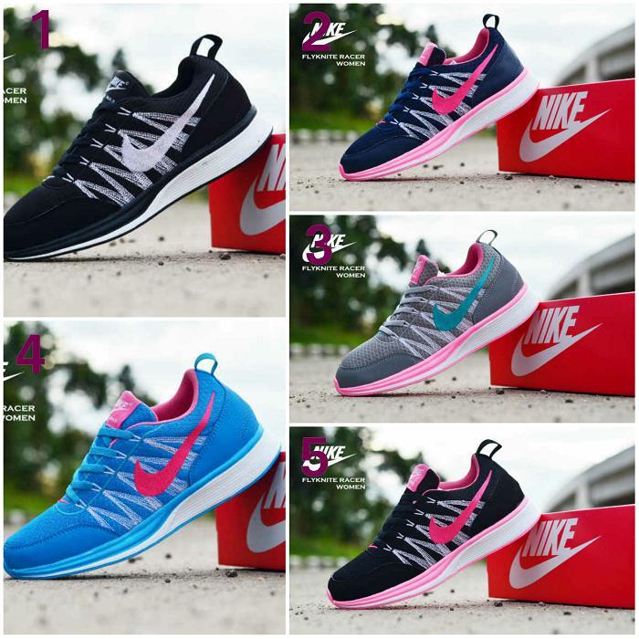 Promo Sepatu Wanita Nike Flyknite Race Olahraga Fitness Jogging Aerobic Lari Fashion