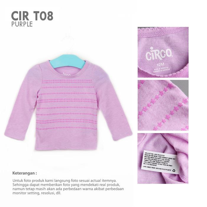 Kaos Panjang Atasan Anak Perempuan CIRCO LONG SLEEVE GIRLS Branded