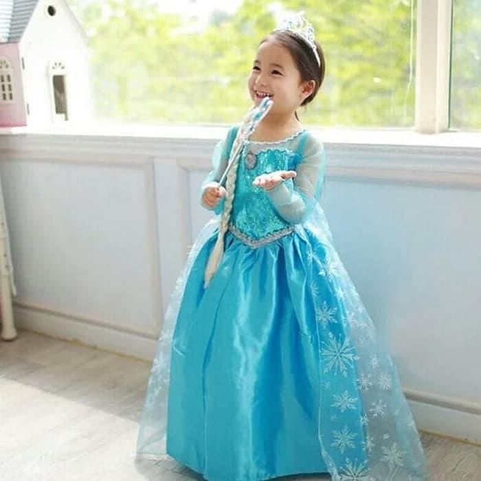 Baju Dress Frozen Elsa  Rok  Gaun