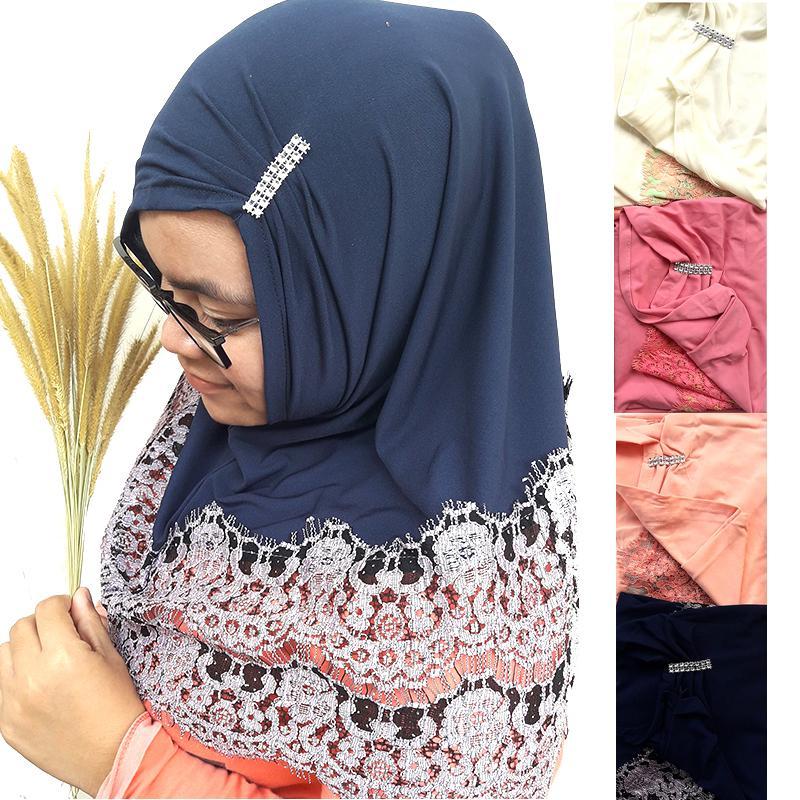 Delice Hijab Kepala Kerudung Zahia Jilbab Instan Polos Tanpa Pet Pendek Instant Langsung Pakai Short Women Fashion Wanita Muslim Muslimah Stretch Pengajian Sehari-hari Penutup Pelindung Kepala Simple Adem Nyaman