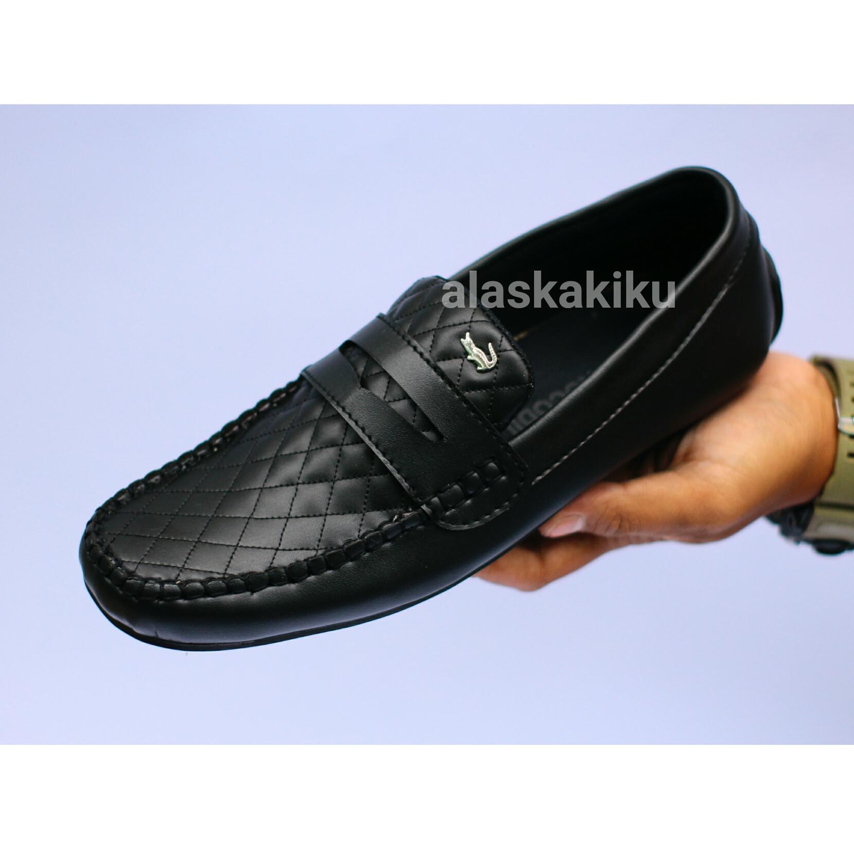 sepatu casual pria loafers crocodile pria kasual slop slip on kasual ( lokal ) kickers guci