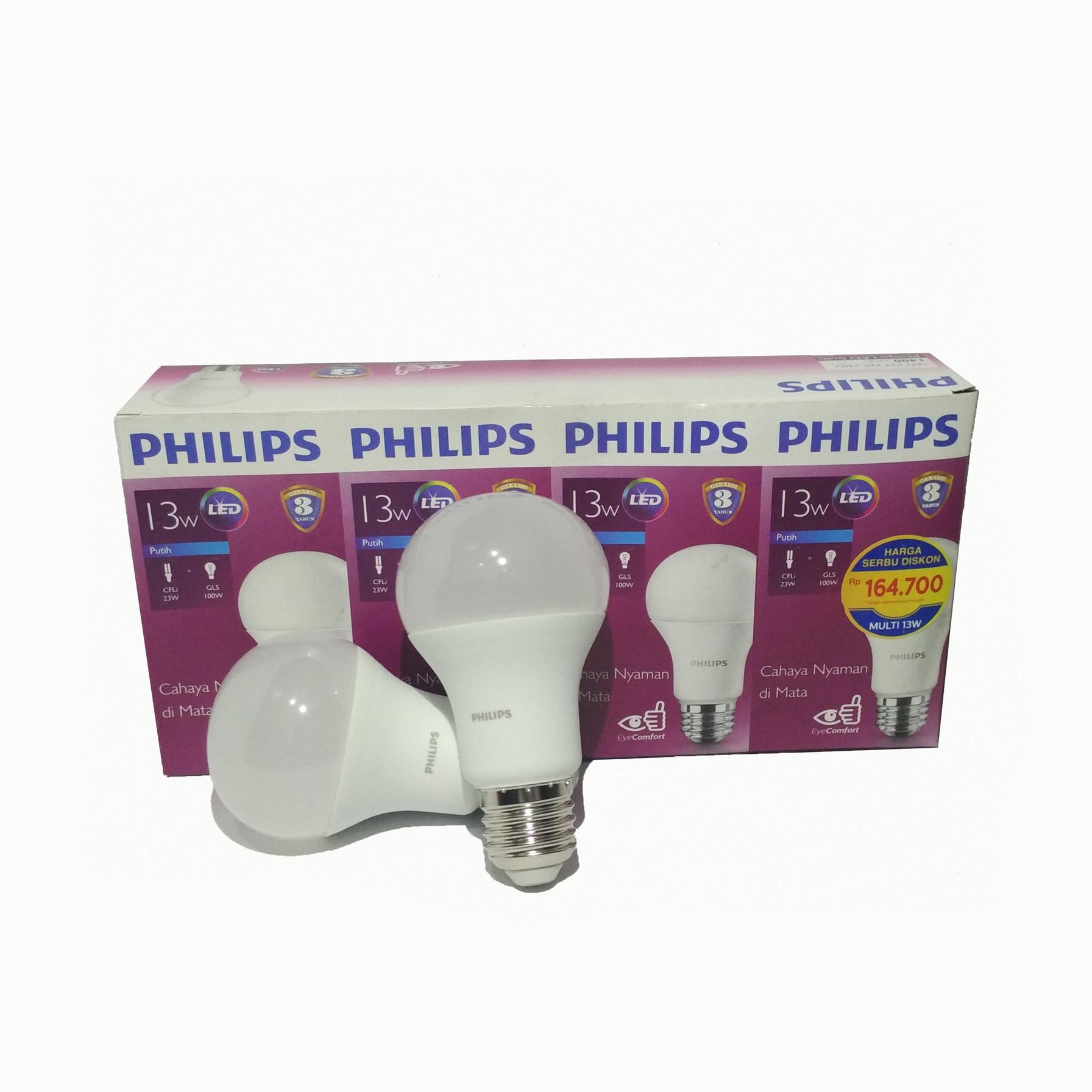 Review Best Seller Lampu Philips Led 8 Watt Paketan Dan Harga 8w 13 Beli 3 Gratis 1