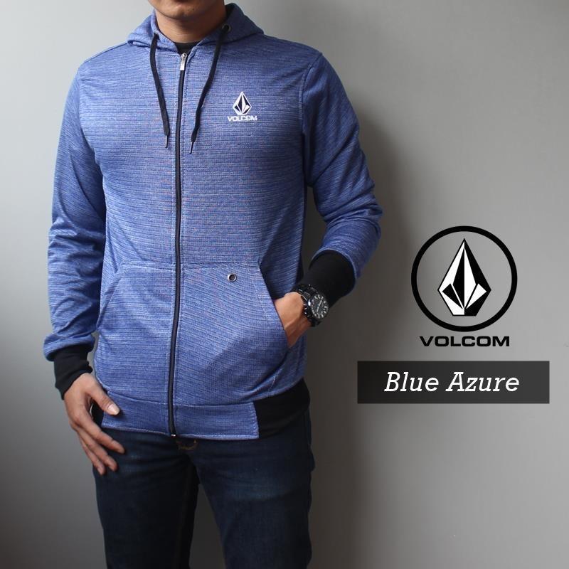 Jaket Hoodie Volcom Blue Azure