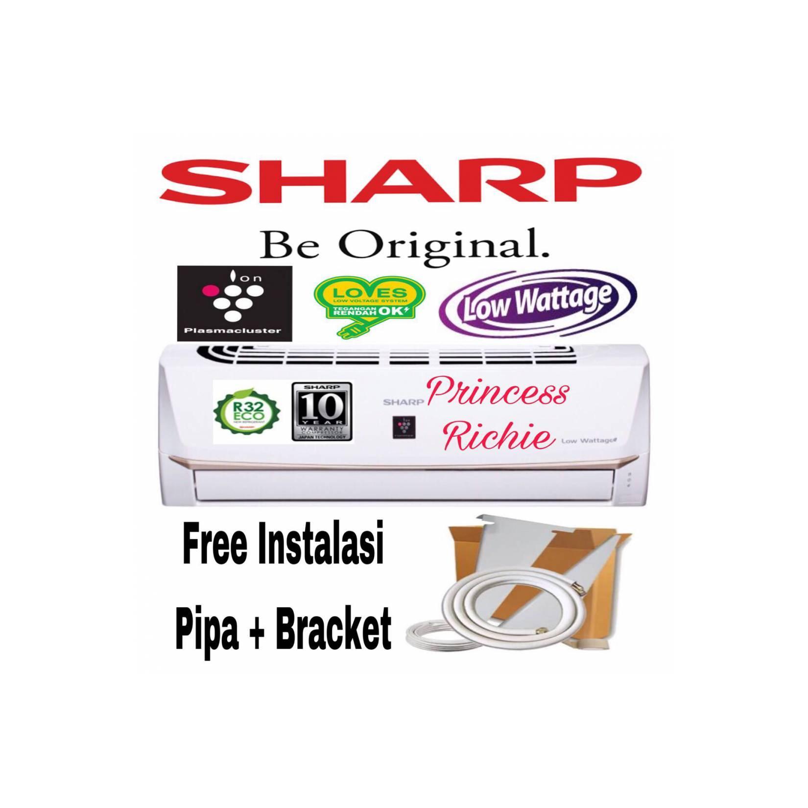 AC SHARP 3/4PK AH-AP7UHL Low watt Plasmacluster Free Pemasangan+Pipa