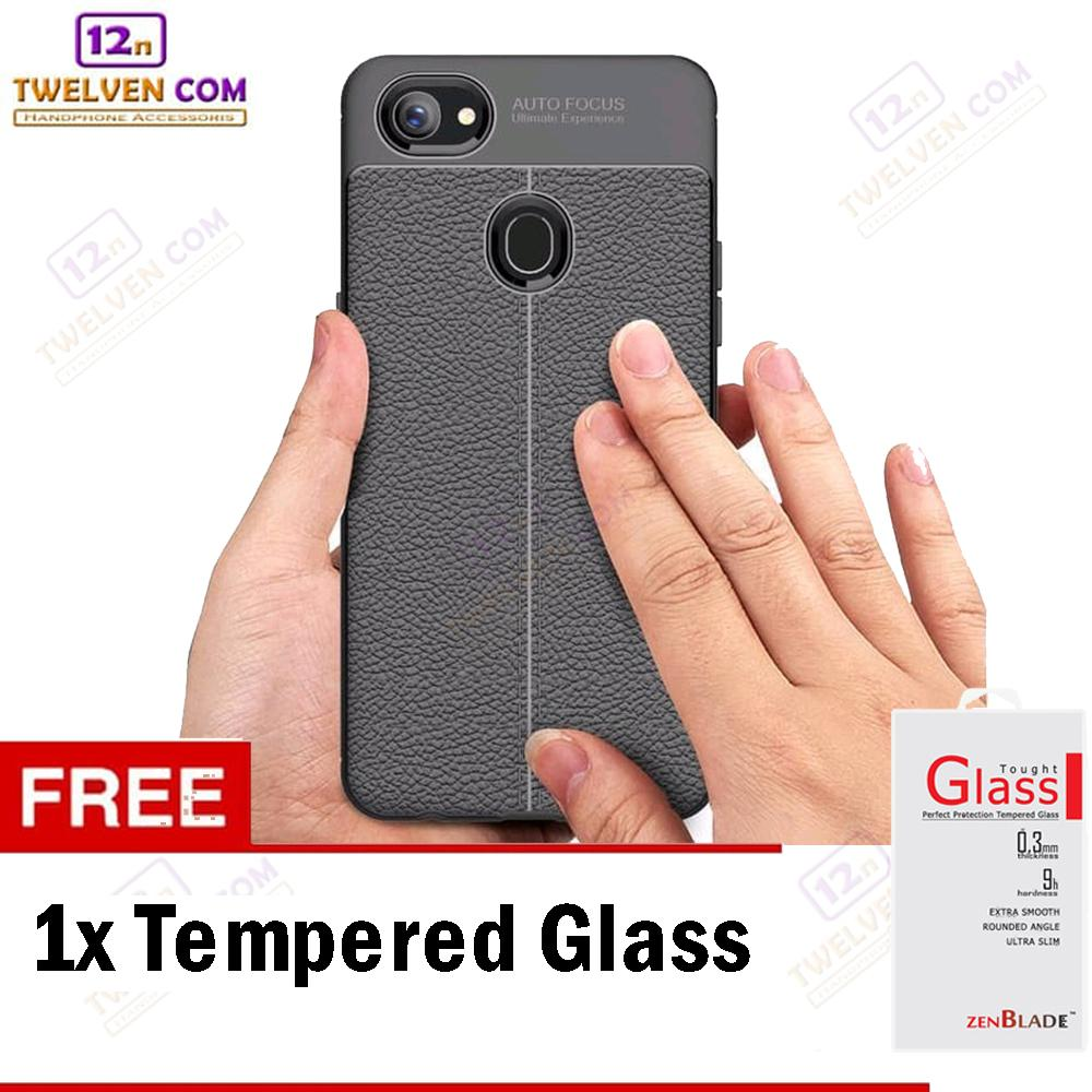 Case Auto Focus Softcase Casing for Oppo F7 - Hitam + Free Tempered Glass