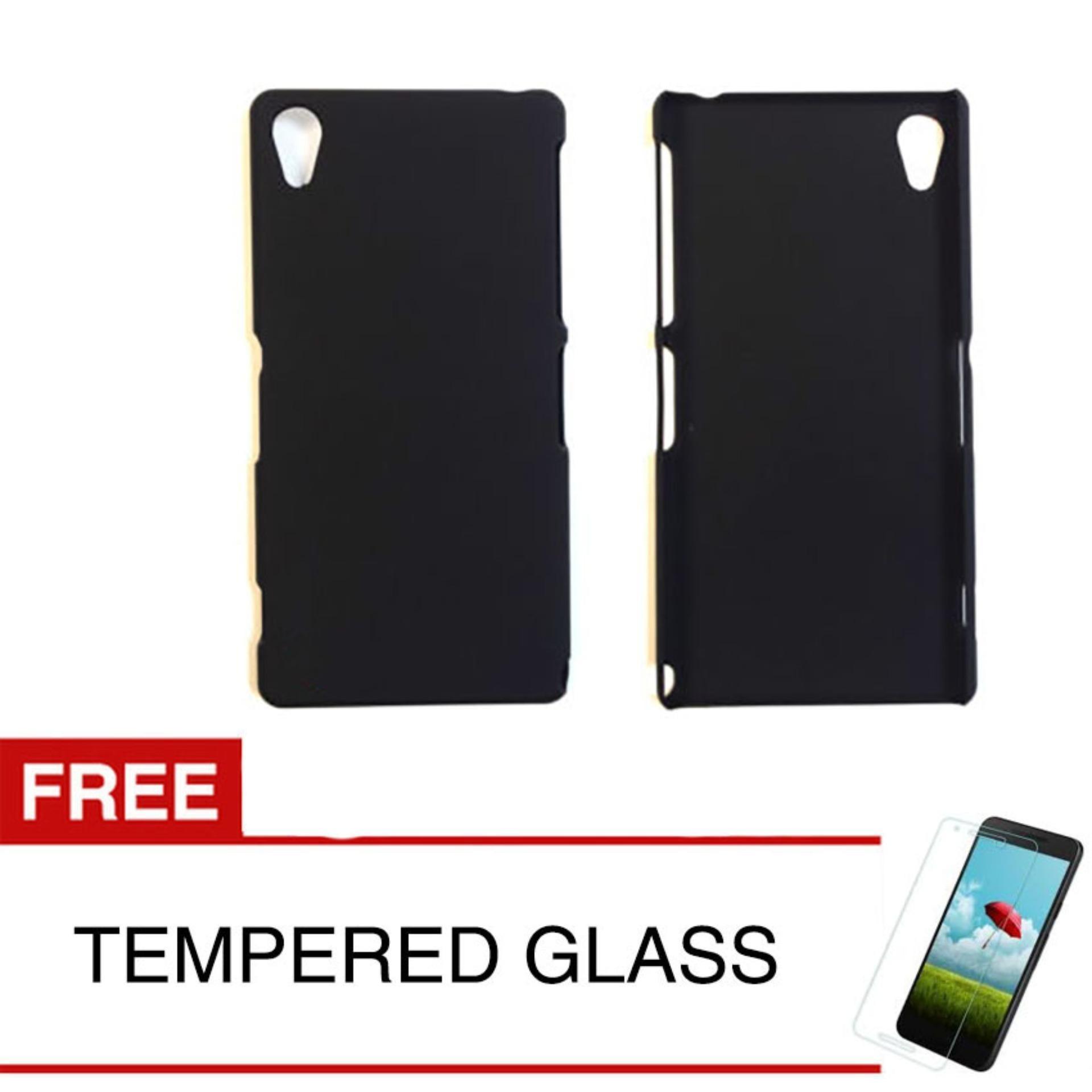Case Slim Black Matte Sony Xperia Z2 - Black Doff - Free Tempered Glass