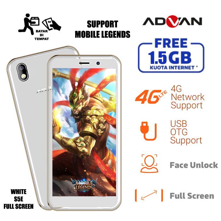 ADVAN NEW S5E MOBILE LEGENDS 8GB/4G LTE FREE KUOTA 1.5GB