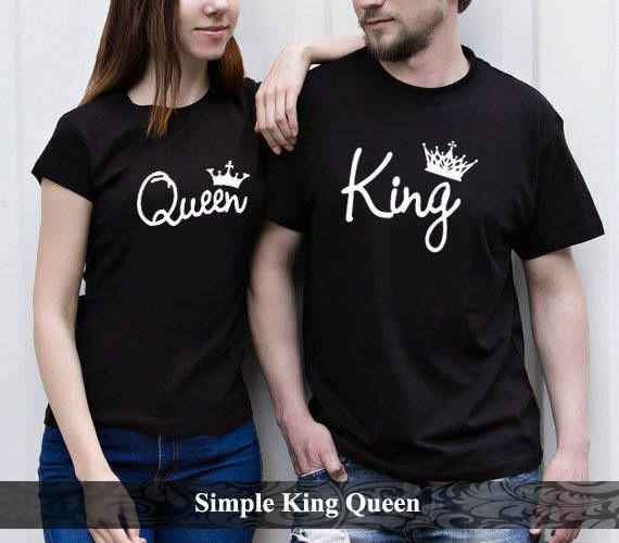 KaosCouple Kaos Couple Keren Baju Kapel Terbaru Simple King Queen Hitam f5db45e09c
