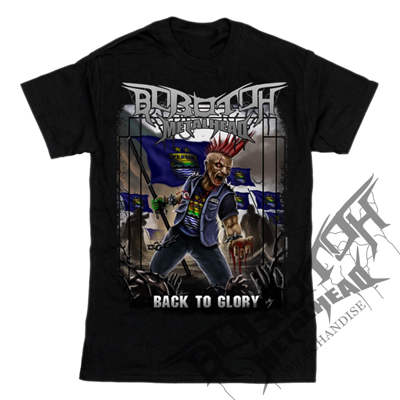 Baju supporter persib metal kaos bobotoh maung bandung tshirt viking bobotoh metalhead back to glory tangan pendek hitam