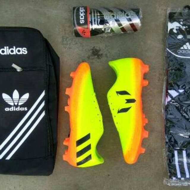 Sepatu Bola Paket lengkap tas+dekker+kaos kaki ANAK 33-37