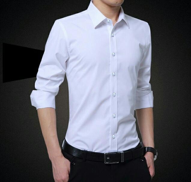 Hem Itni Putih Fashion Pria Kemeja Casual Atasan Cwo