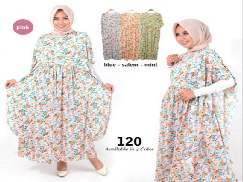 Fashion Baju Gamis Kalong Dress XL Jumbo Big Size Murah Wanita Muslim Kekinian 120