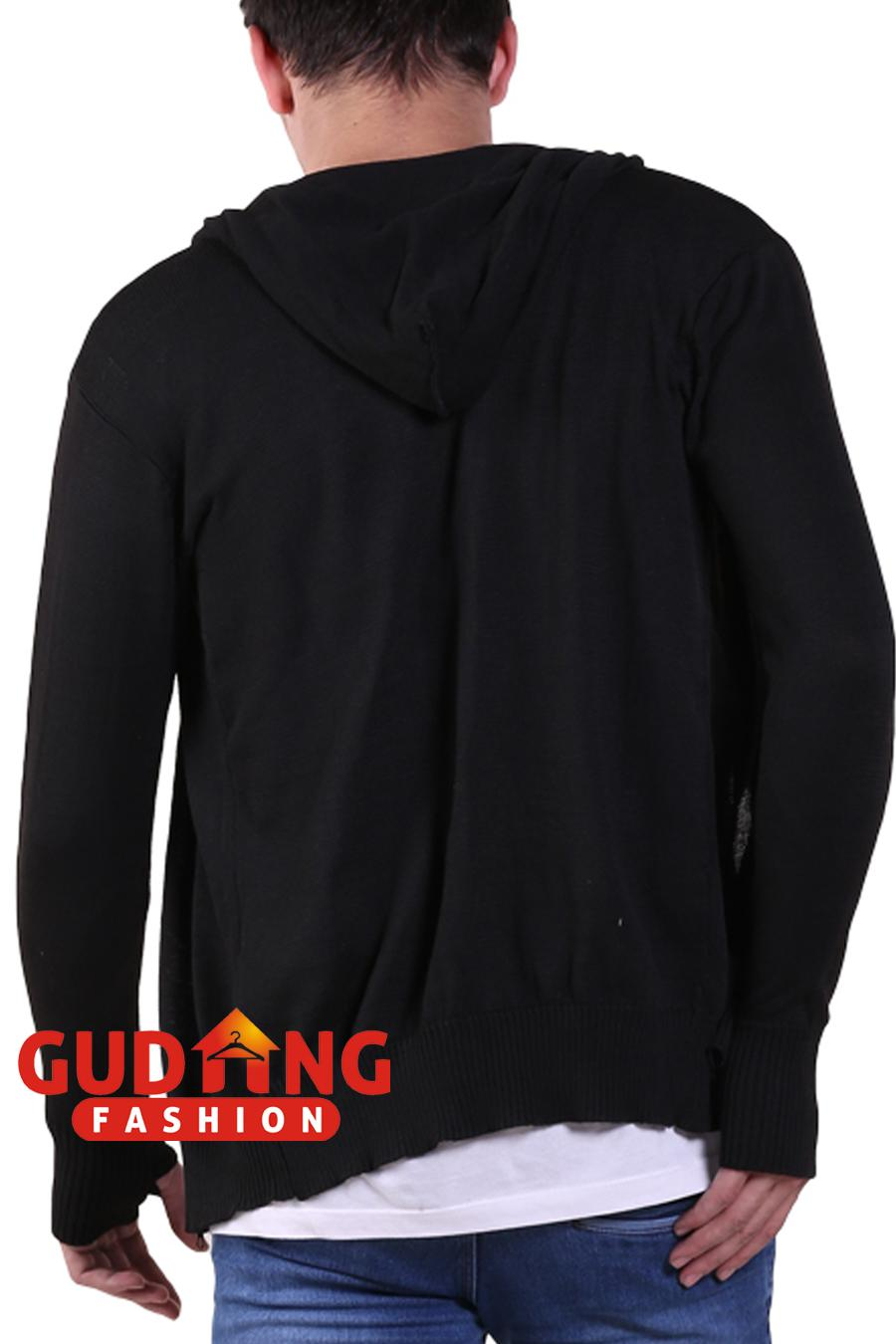 Gudang Fashion - Sweater Knit Hoodie Ariel Noah - Hitam