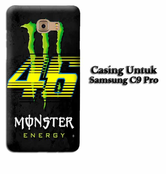 Casing SAMSUNG C9 PRO monster energy vr46 Hardcase Custom Case Se7enstores