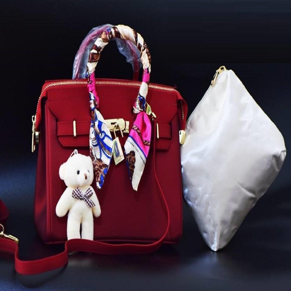 Tas Laptop Tas Kerja Sling Bag Selempang Jelly Matte Hermes Birkin Maroon