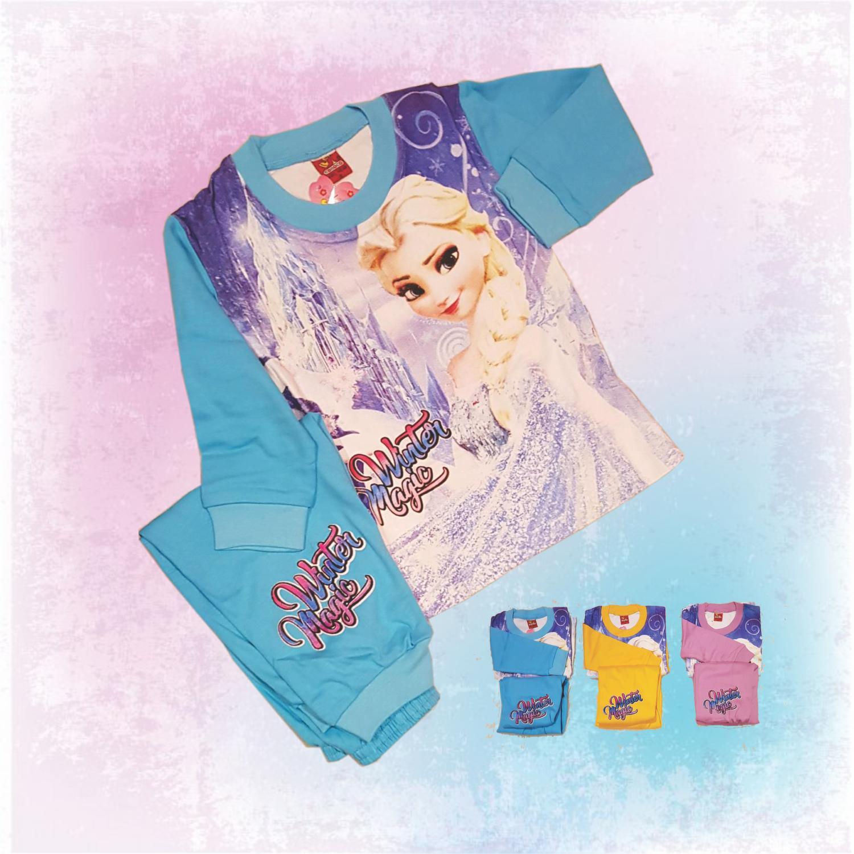 Baju Tidur Piyama Anak Frozen Elsa size 4-6-8