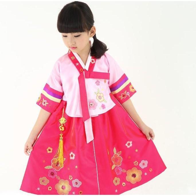 PROMO SALE - HANBOK GIRL BAJU ANAK DRESS TRADISIONAL KOREA KOSTUM TX188  F001