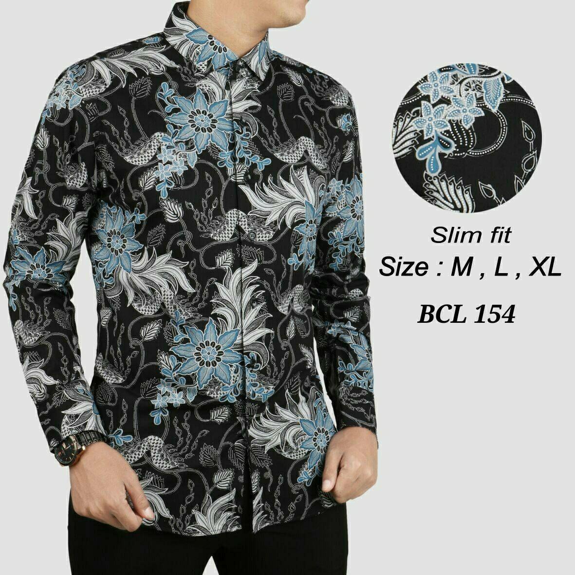 Baju Kemeja Batik Pria Slimfit Motif Modern Bahan Lembut Dan Adem Tidak Mudah Luntur Terbaru 2018