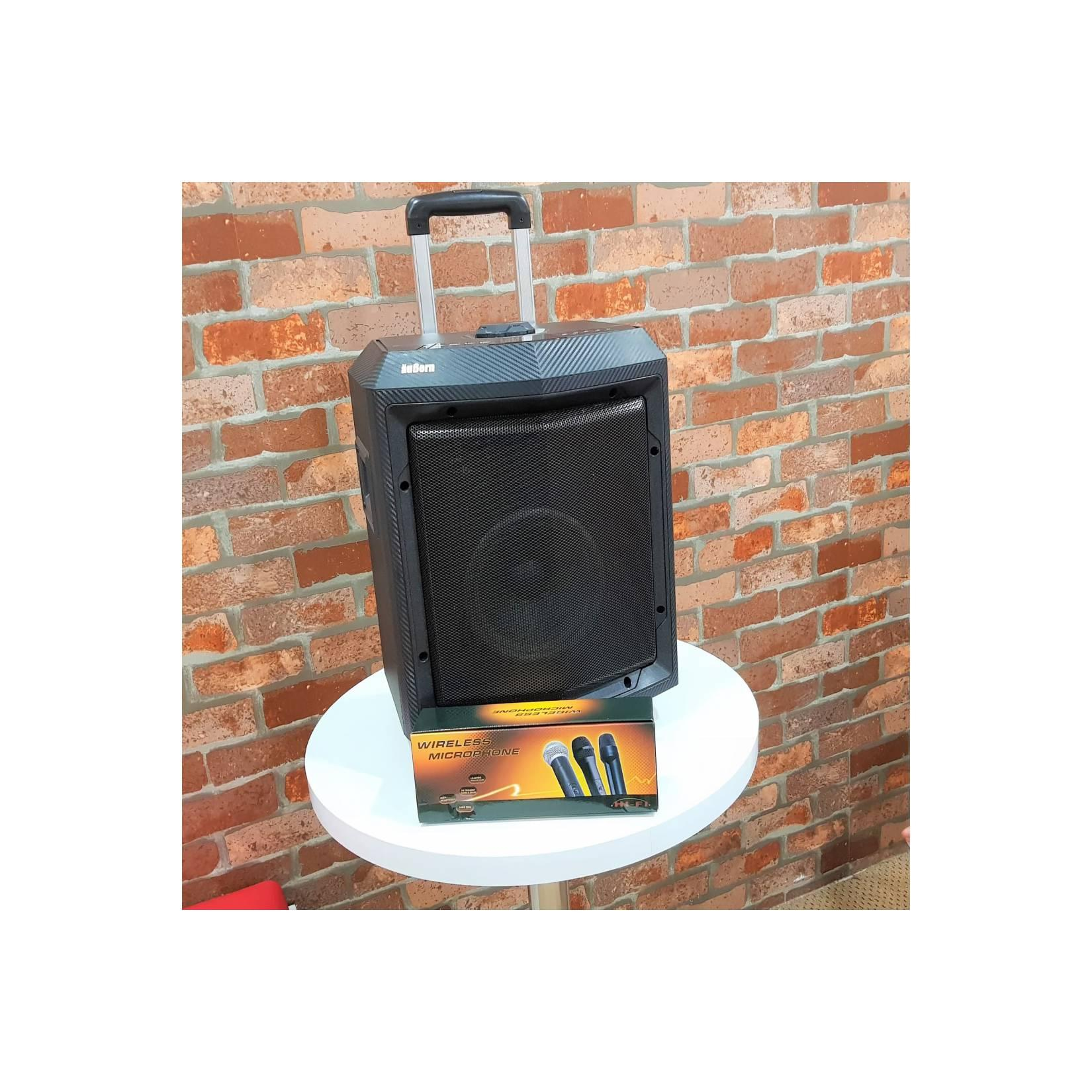 PA SYSTEM AUBERN PS- 8CT PORTABLE AMPLIFIER WIRELESS AUDIO SYSTEM