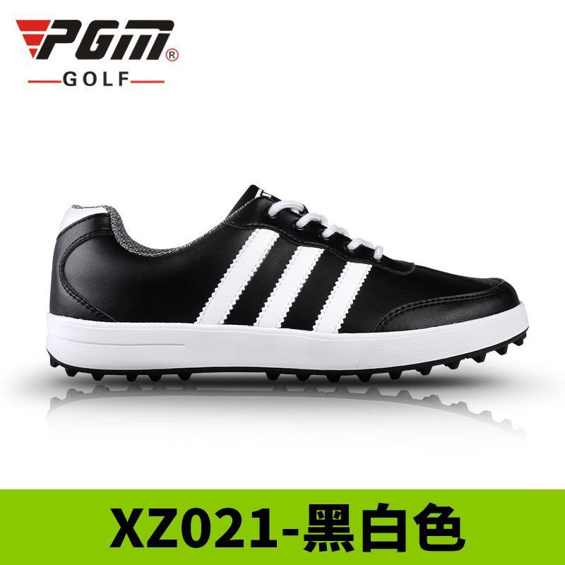 PGM Mens Ultra-soft Waterproof Golfing Shoes (Black White (three bar white) b7cd255e0