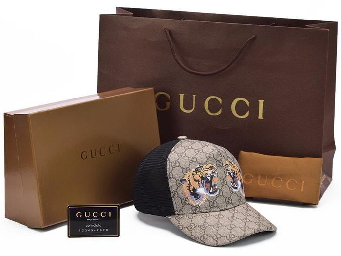 Topi +BOX Gucci Baseball Supreme GG Print Tiger LIST KULIT ASLI ORI  Terlaris di Lazada 543c87e655