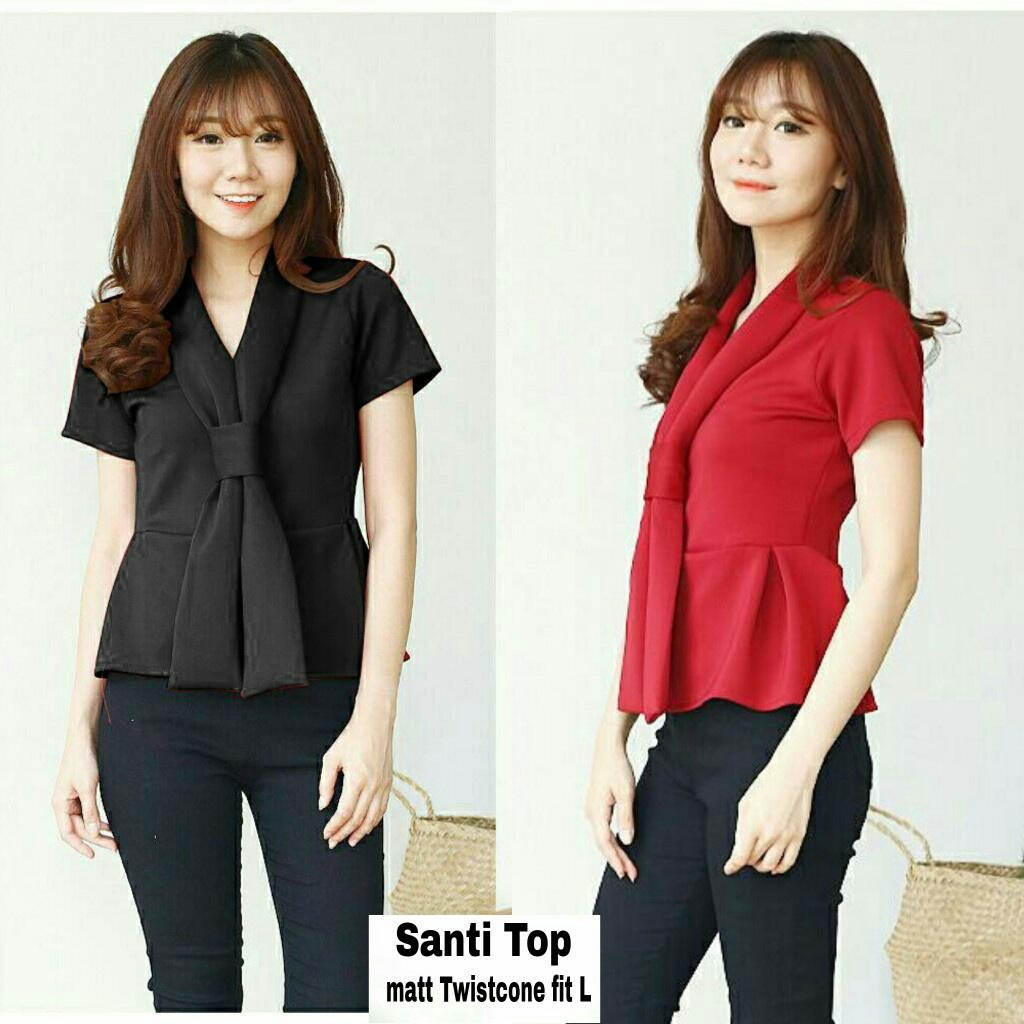 J&C Blouse Santi Top / Blouse Wanita / Blouse Twistcone / Atasan Twistcone / Kemeja Twistcone