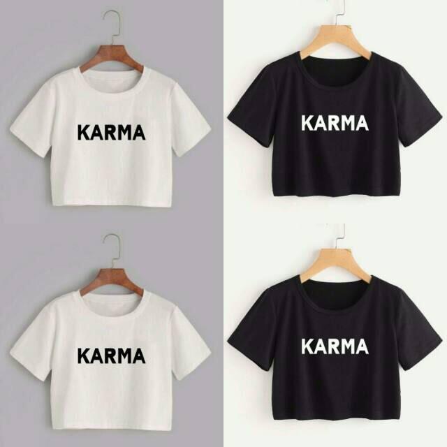 Polo Shirtkarma Crop Tee Tshirt Tumbler Tee 3 Warna No.376 kode dhala-FF238