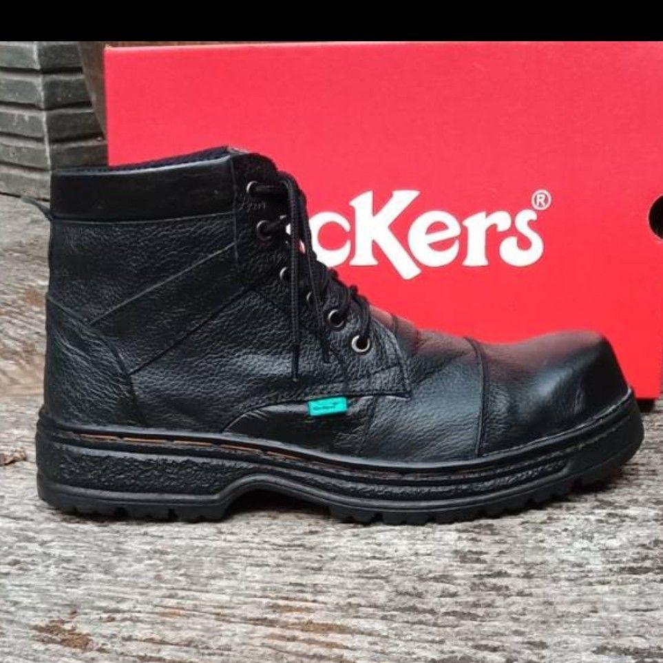 Sepatu Boots Safety Hitam