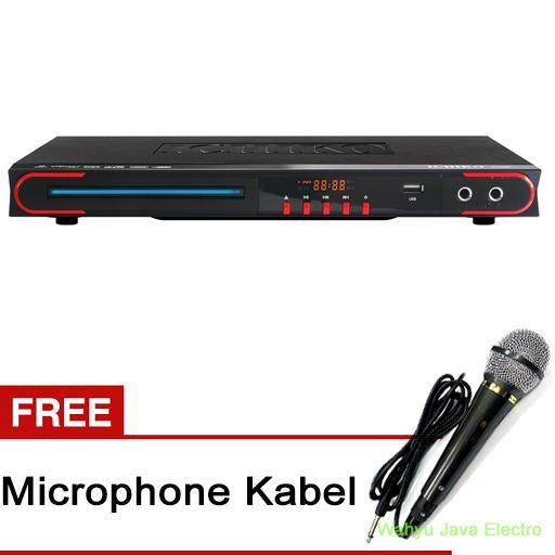 Ichiko DVD Player DV-VR960 - Hitam + Free Microphone Kabel