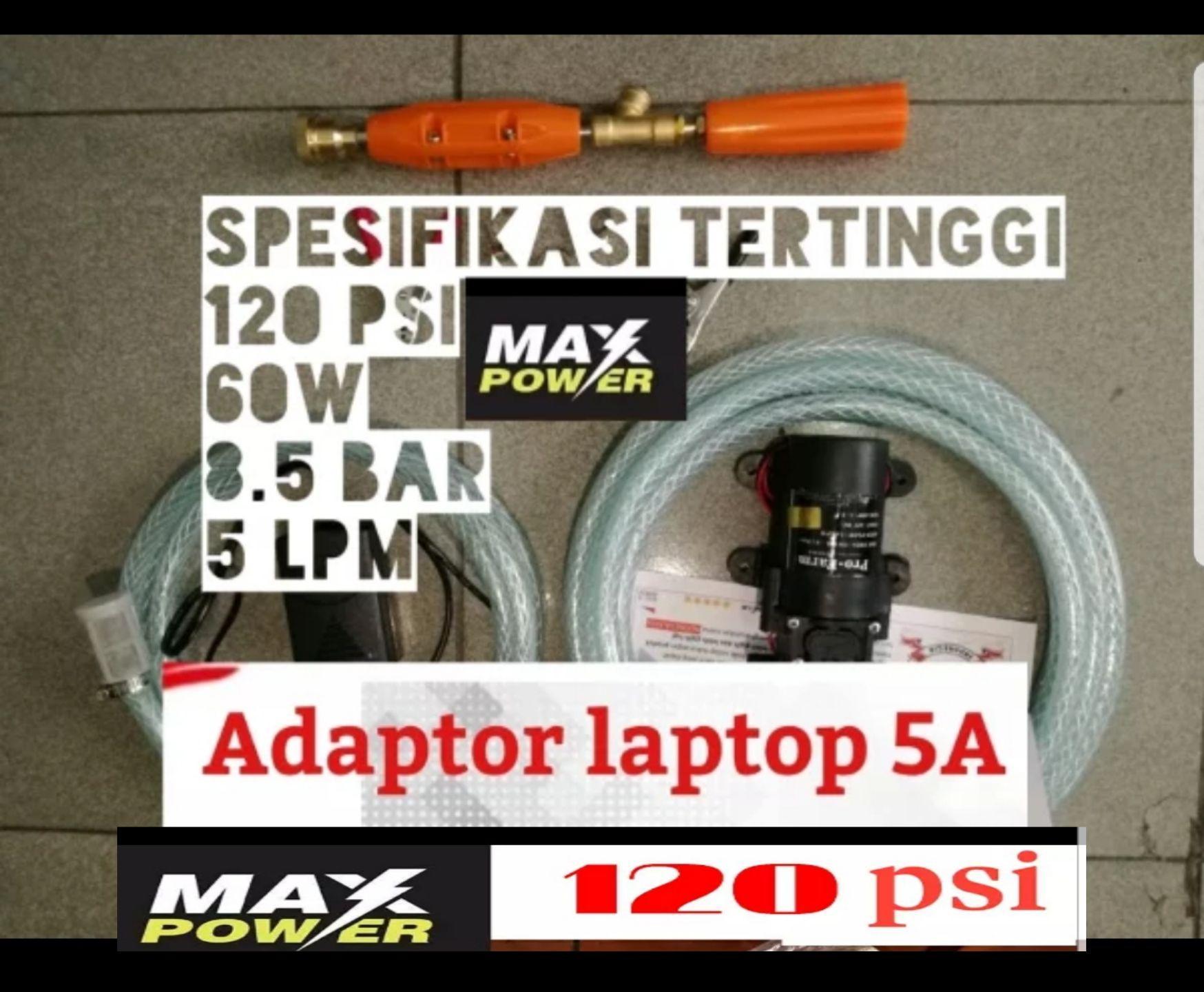 Mesin bandel dan adaptor 5.0A membuat sistem kabut dan kasar jadi maksimal Alat Cuci Motor Spek DEWA