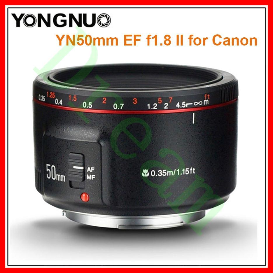 2018 Produk Baru Yongnuo YN50mm F1.8 II (YN50mm Update) apertur Besar Otomatis Fokus Lensa untuk Canon Efek Bokeh Lensa Kamera untuk Canon EOS 70D 5D2 5D3 600D DSLR Yn50mm-ii YN-50mm II YN50MM II