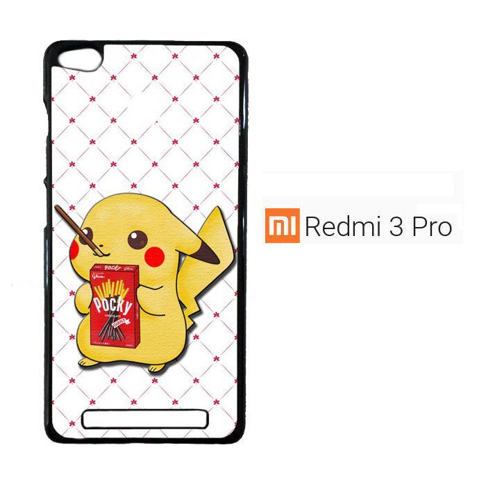 Pikachu Drinking Pocky E0625 Casing Xiaomi Redmi 3 Pro / Redmi 3S Cust