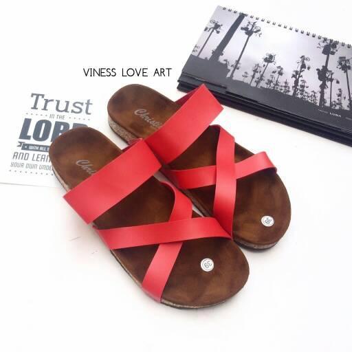 Promo sandal wanita silang flat murah grosir bandung Diskon