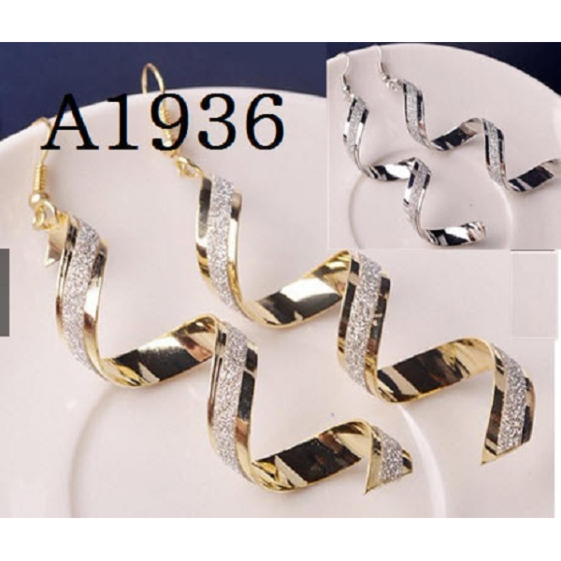 Anting Korea (Gelang Kalung Cincin Import Perhiasan Set Xuping)