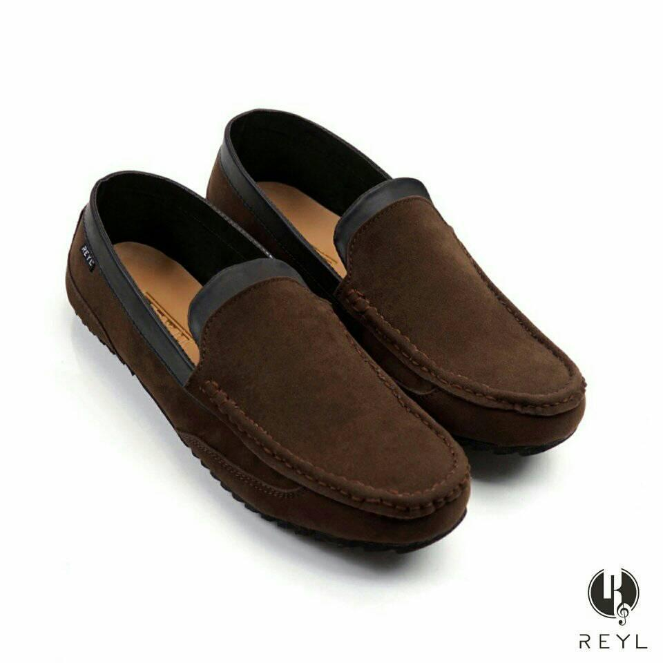 Sepatu loafers pria santai kerja slop slip on casual kasual gucci - Sepatu santai pria - sepatu slop pesta branded (hangout)
