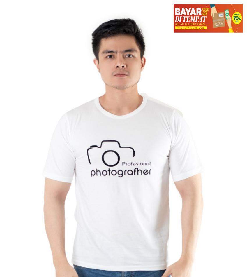 D F.co Kaos Distro Fotografer Kualitas Premium 100% Cotton Combed