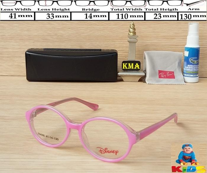 Kacamata Frame Anak # GRATIS GANTI LENSA MINUS # Bulat Kids Disney