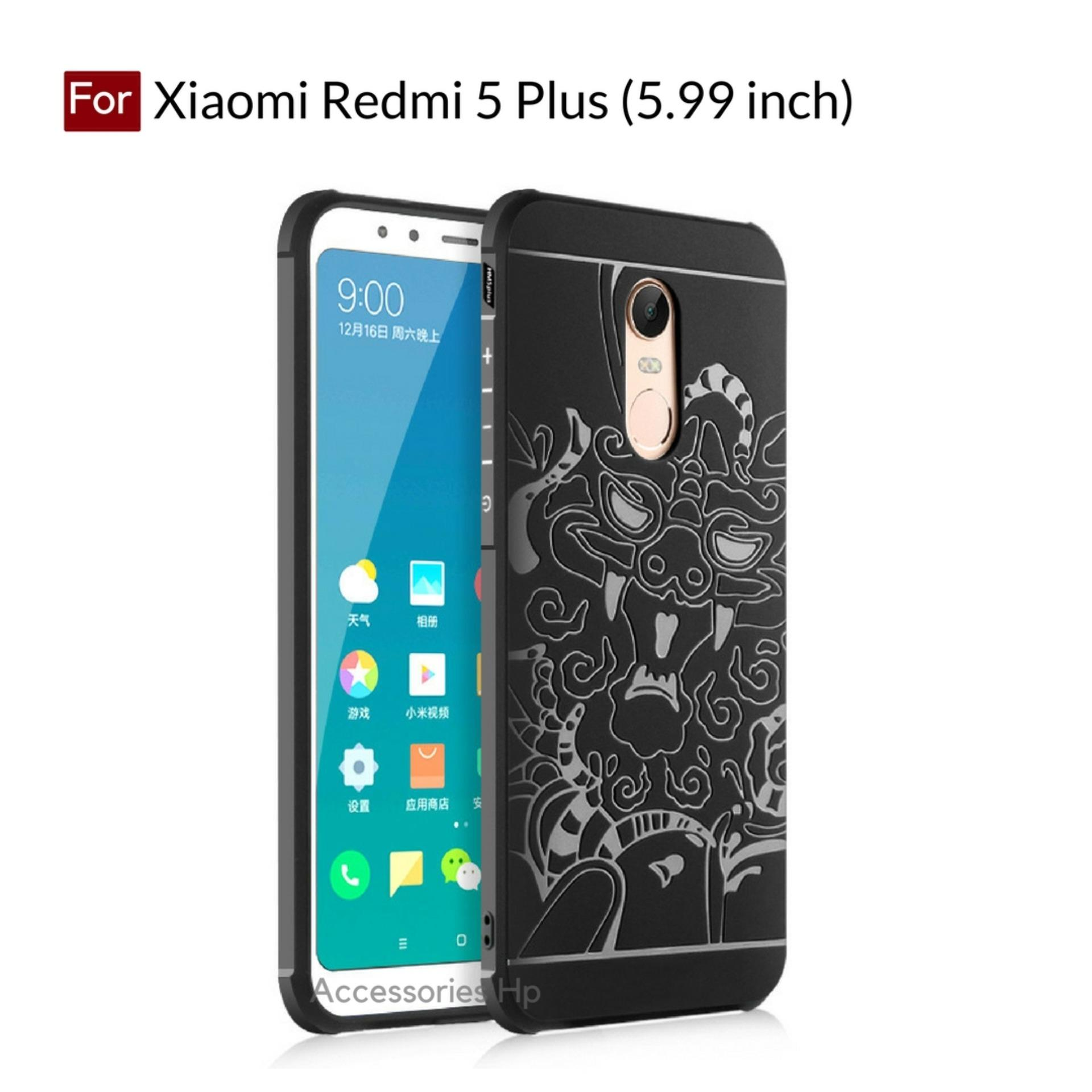 Accessories HP Dragon Shockproof Hybrid Case for Xiaomi Redmi 5 Plus (5.99 inch) - Black