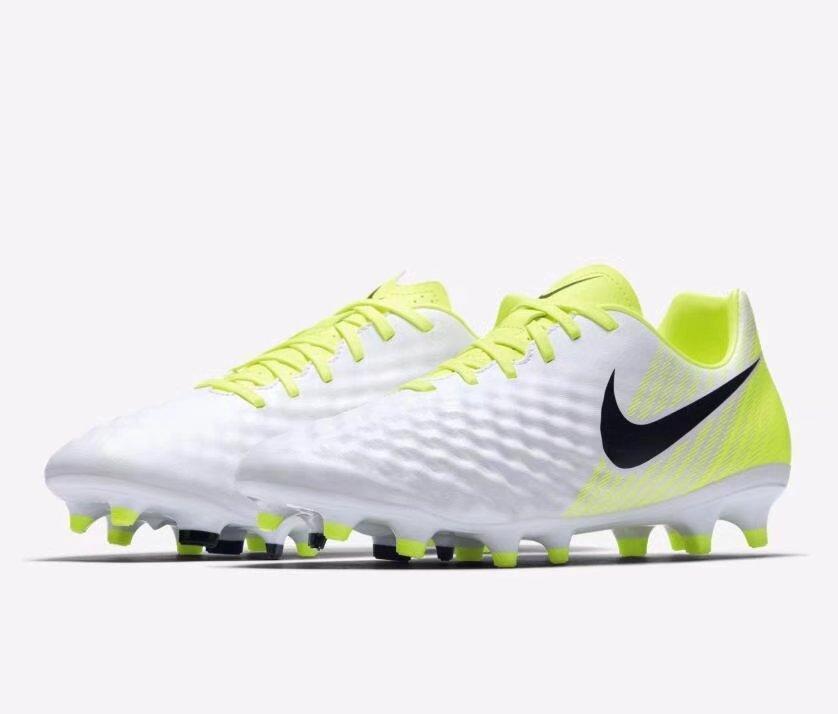 Nike Men Magista Onda II FG Soccer Cleats White/Volt Color 844411-109 US7 RHK