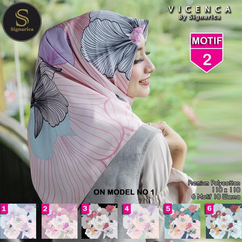Hijab Segi Empat VICENCA 2 By SIGNARICA - Jilbab kerudung MOTIF