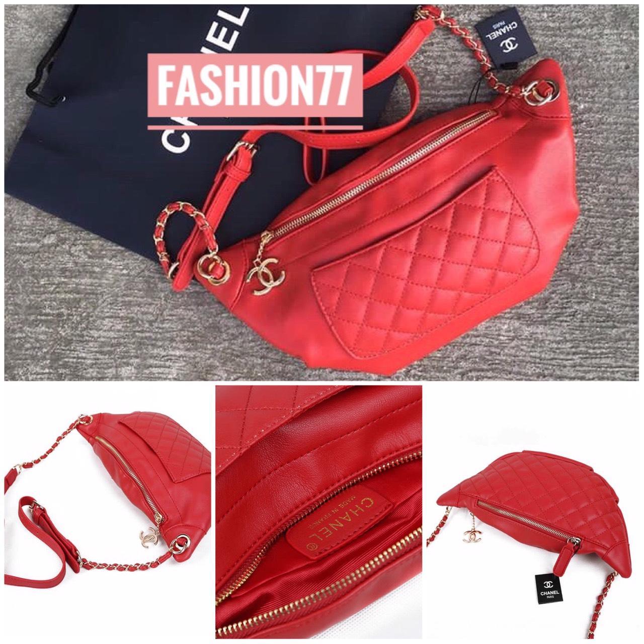 Detail Gambar PROMO Waist Bag Nagita Warna MERAH-RED   Tas Selempang   Tas  Pinggang e4c8e58e77
