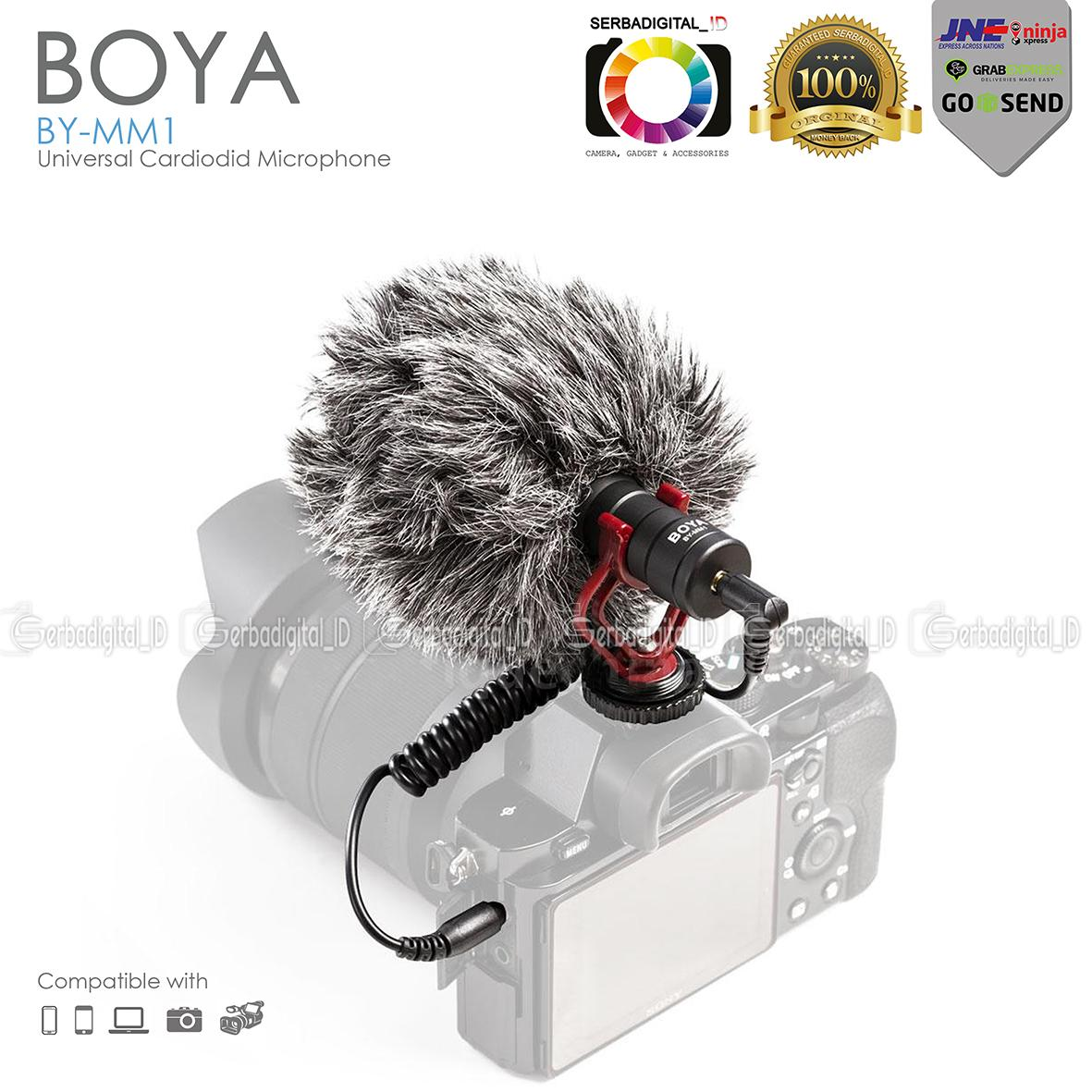 Boya BY-MM1 Cardiodid Microphone Shotgun For DSLR,Video,Android Vlog