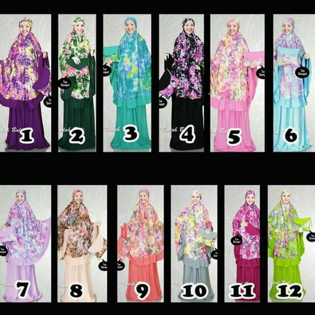 Mukena Bali Tie Dye Smoke atas Exclusive ECER
