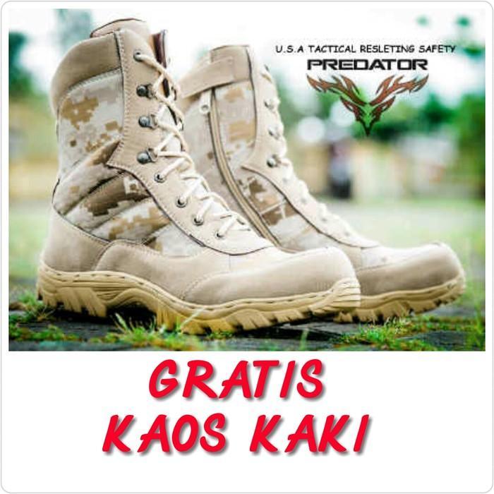 SEPATU TACTICAL DELTA SAFETY GURUN ARMY POLISI TNI PDL LORENG DIGITAL CREAM 1