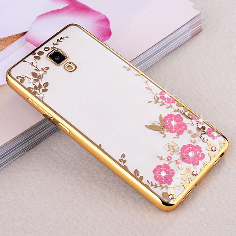 FLOWER CASE Xiaomi Mi4 Mi 4 Mi4W 4G LTE Casing Bunga Softcase Jelly Back Cover Diamond Electroplati